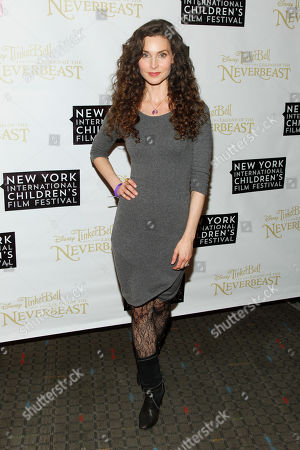 "Stock Photo of Alicia Minshew attends a special screening of ""Tinker Bell and the Legend of the Neverbeast"" at the SVA Theatre, in New York"