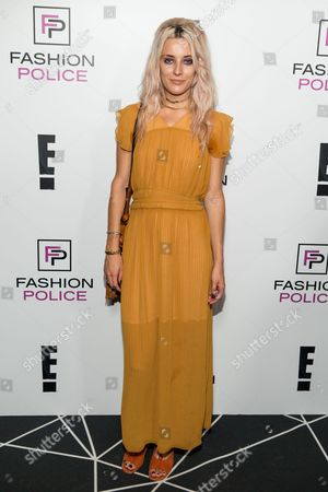 Chloe Norgaard arrives at the NYFW Spring/Summer 2016 - E! Party at The Standard Highline Biergarten on Wednesday, Sept. 9th, 2015, in New York