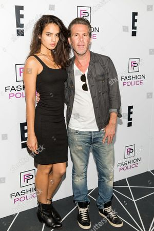 Stock Photo of Nina Marie, left, and Scott Lipps arrive at the NYFW Spring/Summer 2016 - E! Party at The Standard Highline Biergarten on Wednesday Sept. 9th, 2015, in New York