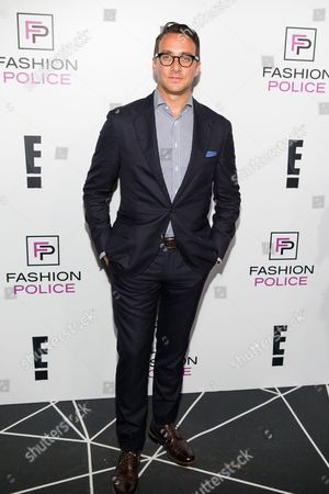 Adam Stotsky arrives at the NYFW Spring/Summer 2016 - E! Party at The Standard Highline Biergarten on Wednesday, Sept. 9th, 2015, in New York
