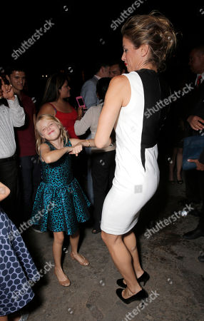 """Loreto Peralta and Jessica Lindsey dance at Pantelion Films' """"Instructions Not Included"""" Los Angeles Premiere After Party, on Thursday, August, 22, 2013 in Los Angeles"""