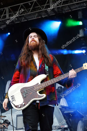 Sean Gadd of Grouplove performs as part of Party in the Park at Centennial Olympic Park, in Atlanta