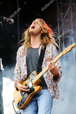 Andrew Wessen of Grouplove performs as part of Party in the Park at Centennial Olympic Park, in Atlanta