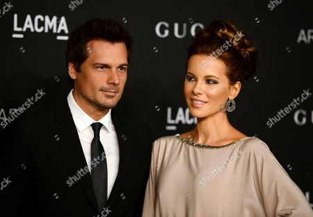 Director Len Wiseman, left, and actress Kate Beckinsale arrive at the LACMA Art + Film Gala in Los Angeles. Los Angeles court records show that Wiseman filed for divorce from Beckinsale, citing irreconcilable differences. The couple have been married for 12 years