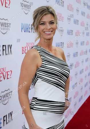 """Stock Image of Tracy Melchior seen at Pure Flix Entertainment premiere of """"Do You Believe?"""" at Arclight Hollywood, in Los Angeles, CA"""