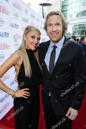 """Stock Image of Andrea Logan White and Pure Flix Entertainment's David A.R. White seen at Pure Flix Entertainment premiere of """"Do You Believe?"""" at Arclight Hollywood, in Los Angeles, CA"""