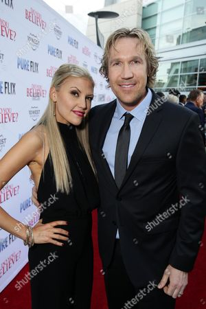"""Andrea Logan White and Pure Flix Entertainment's David A.R. White seen at Pure Flix Entertainment premiere of """"Do You Believe?"""" at Arclight Hollywood, in Los Angeles, CA"""