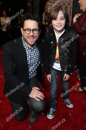 "J.J. Abrams and Ethan Michael Mora are seen at Showtime's ""Roadies"" Premiere at ACE Hotel, in Los Angeles"