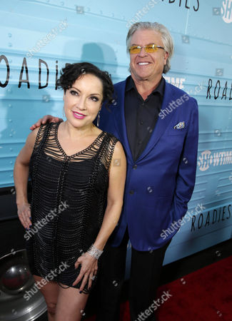 "Margo Rey and Ron White are seen at Showtime's ""Roadies"" Premiere at The Theatre at ACE Hotel, in Los Angeles"