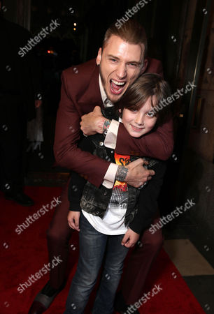 "Machine Gun Kelly and Ethan Michael Mora are seen at Showtime's ""Roadies"" Premiere at ACE Hotel, in Los Angeles"