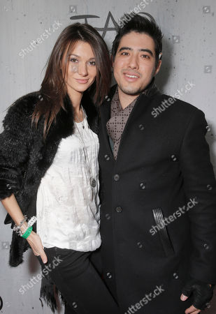 Stock Picture of Justin Nappi (right) and guest attend TAO Sundance, in Park City, Utah