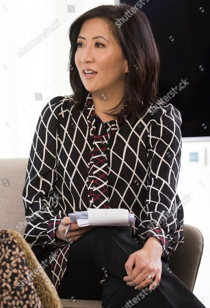 Janice Min, President & Chief Creative Officer of The Hollywood Reporter seen at The Hollywood Reporter and Kering Women in Motion conversation at the Majestic Hotel on in Cannes, France