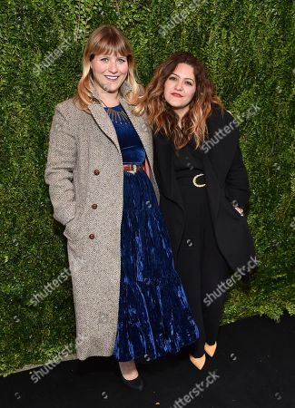 Stock Photo of Selected filmmakers Joey Alley, left, and Constanza Castro attend Through Her Lens: The Tribeca Chanel Women's Filmmaker Program Luncheon at Locanda Verde, in New York
