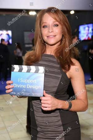 Stock Image of Jamie Luner visits the Time Warner Cable Lounge at the 2012 Divine Design benefiting Project Angel Food, in Beverly Hills, Calf