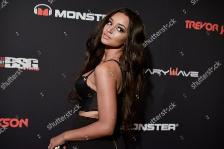 Jessica Jarrell arrives at Trevor Jackson's 18th Birthday Party, in Los Angeles