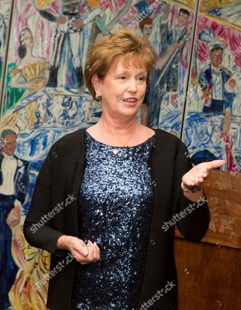 Jacquie Moloney speaks at UMass Lowell Celebration of Sardi's Caricature of Stewart F. Lane & Bonnie Comley at Sardi's on