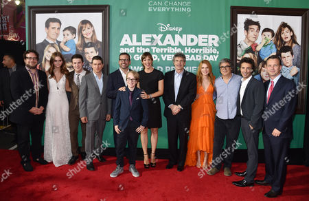 """Editorial image of World Premiere Of """"Alexander And The Terrible, Horrible, No Good, Very Bad Day"""" - Red Carpet, Los Angeles, USA"""