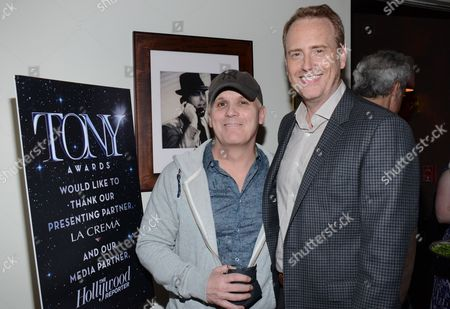 "Director Scott Ellis and Chairman of NBC Entertainment Bob Greenblatt attend the ""Broadway To Hollywood"" Cocktail Event - Inside held at Sunset Towers on in Los Angeles, California"