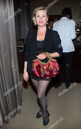 """Stock Picture of Actress Angelica Page attends the """"Broadway To Hollywood"""" Cocktail Event - Inside held at Sunset Towers on in Los Angeles, California"""