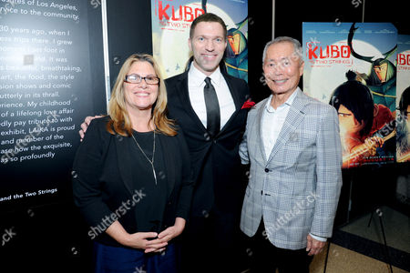 """Editorial picture of """"Kubo and the Two Strings"""" George Takei Puppet Presentation, Los Angeles, USA"""