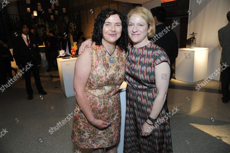 "Stock Picture of Costume Designer Deborah Cook and Producer Arianne Sutner seen at ""Kubo and the Two Strings"" George Takei Puppet Presentation at Japanese American National Museum, in Los Angeles"