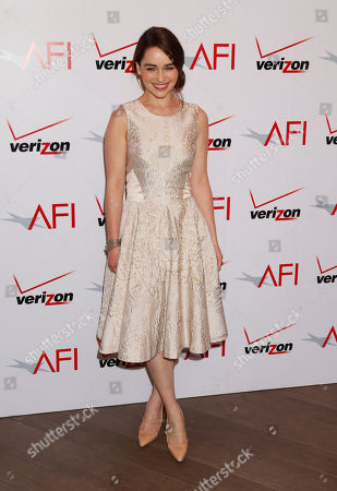 Emilia Clark attends the 13th Annual AFI Awards Luncheon at the Four Seasons Hotel Los Angeles on in Los Angeles