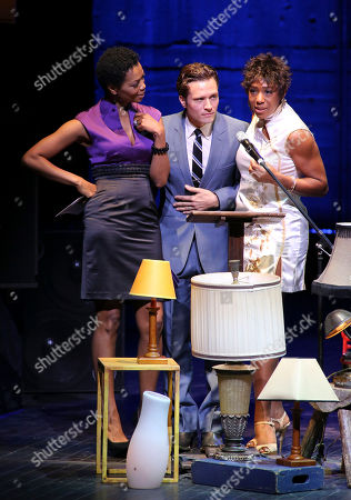 From left, Venessa Williams, Seamus Dever and Dawnn Lewis present during the 2012 LA Stage Alliance Ovation Awards ceremony held at the Los Angeles Theatre, in Los Angeles, Calif
