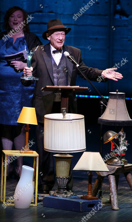 """Alan Mandell accepts his Ovation for Lead Actor in a Play for his role as Estragon in """"Waiting for Godot"""" during the 2012 LA Stage Alliance Ovation Awards ceremony held at the Los Angeles Theatre, in Los Angeles, Calif"""