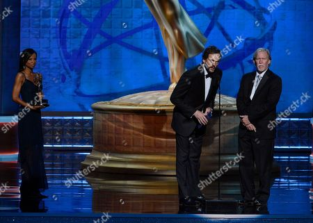 SEPTEMBER 15: (L-R) Silas Weir Mitchell and Jim Kouf present the award for Outstanding Special Visual Effects onstage at the Academy of Television Arts & Sciences 64th Primetime Creative Arts Emmy Awards at Nokia Theatre L.A. Live on in Los Angeles, California