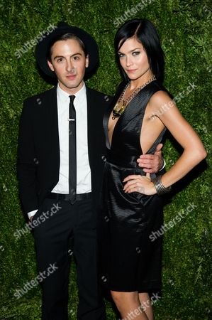 Stock Photo of Eddie Borgo and Leigh Lezark attend the CFDA Vogue Fashion Fund Awards on in New York