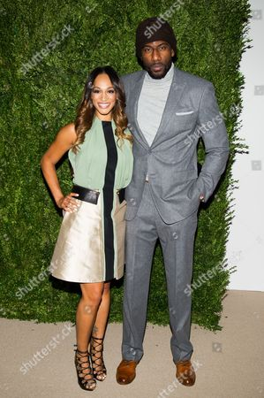 Alexis Welch and Amar'e Stoudemire attend the CFDA Vogue Fashion Fund Awards on in New York