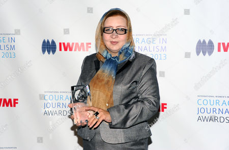 Stock Photo of Honoree Najiba Ayubi, director of The Killid Group in Afganistan attends the 2013 Courage in Journalism and Lifetime Achievement Awards hosted by the International Women's Media Foundation at Cipriani's 42nd Street, in New York