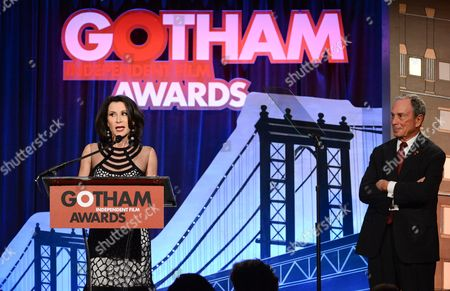 Commissioner of the New York City Mayor's Office of Media and Entertainment Katherine Oliver speaks at the 23rd Annual Gotham Independent Film Awards at Cipriani's Wall Street on in New York