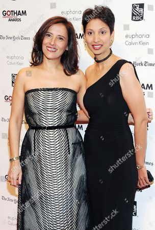 Stock Picture of IFP Executive Director Joana Vicente, left, and producer Gita Pullapilly attend the 23rd Annual Gotham Independent Film Awards at Cipriani's Wall Street, in New York