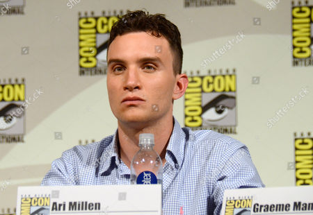 """Ari Millen attends the """"Orphan Black"""" panel on Day 2 of Comic-Con International, in San Diego"""