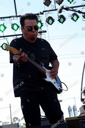 Cesar Rosas of Los Lobos performs at the 2014 Hangout Music Festival, in Gulf Shores, Alabama
