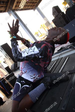 Khalif Diouf aka Le1f performs at the 2014 Hangout Music Festival, in Gulf Shores, Alabama