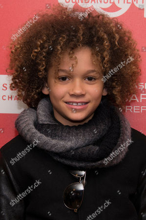 "Actor Armani Jackson poses at the world premiere of the film ""Cooties"" during the 2014 Sundance Film Festival, on in Park City, Utah"