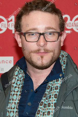 """Actor James Adomian poses at the premiere of the film """"Hits"""" during the 2014 Sundance Film Festival, on in Park City, Utah"""