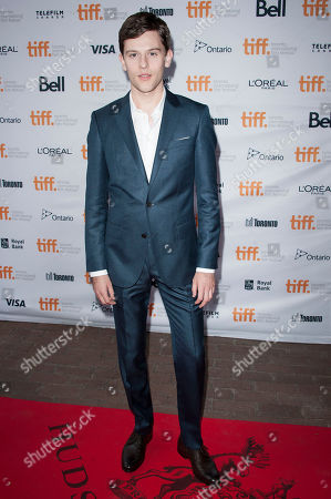 """Actor Travis Tope seen at the premiere of """"Men, Women & Children"""" at Ryerson Theatre during the 2014 Toronto International Film Festival, in Toronto, Ontario"""