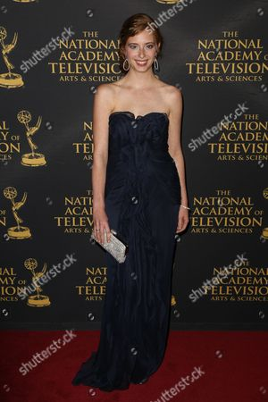Ashlyn Pearce arrives at the 2015 Daytime Creative Arts Emmy Awards at The Universal Hilton, in Universal City, Calif