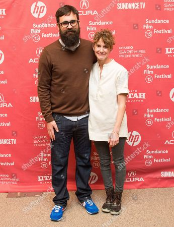 "Director Jared Hess and co-writer Jerusha Hess attend the ""Don Verdean"" premiere during the 2015 Sundance Film Festival, in Park City, Utah"