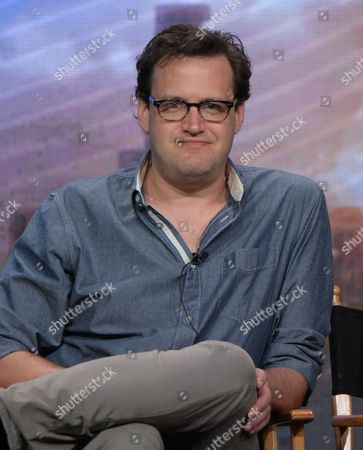 Executive producer Andrew Kreisberg participates in a panel during The CW Television Critics Association summer press tour, in Beverly Hills, Calif