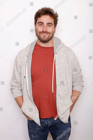 """Director Richard Tanne poses for a portrait to promote the film, """"Southside with You"""", at the Toyota Mirai Music Lodge during the Sundance Film Festival on in Park City, Utah"""