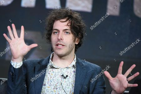 """Co-creator/executive producer/director Jonathan Krisel participates in the """"Baskets"""" panel at the FX Networks Winter TCA, in Pasadena, Calif"""