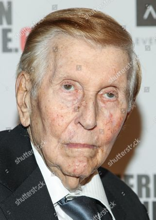 Sumner Redstone attends the presentation of the 27th Annual American Cinematheque Award to Jerry Bruckheimer, in Beverly Hills, Calif