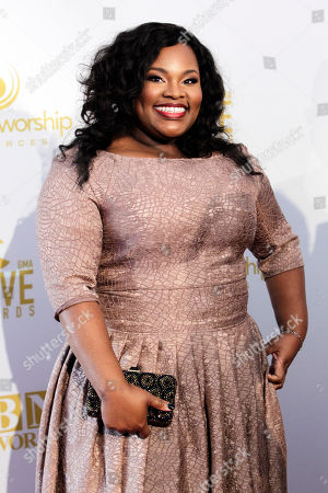 Tasha Cobbs appears at the 46th Annual GMA Dove Awards at Lipscomb University on Tuesday, Oct. 13, in Nashville, Tenn