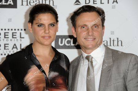 Tony Goldwyn and daughter Anna Musky-Goldwyn arrive at the 4th Annual Reel Stories, Real Lives Benefit held at Milk Studios, in Los Angeles
