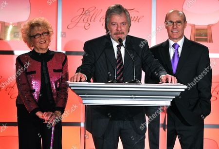 MARCH 1: (L-R) Doris Singleton, Stan Livingston and Barry Livingston onstage at the cocktail reception at the Academy of Television Arts & Sciences 21st Annual Hall of Fame Ceremony at the Beverly Hills Hotel on in Beverly Hills, California