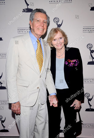 "OCTOBER 13: Jeffrey Hayden and Eva Marie Saint arrive at the Academy of Television Arts & Sciences Presents: ""An Evening Honoring Carl Reiner"" at the Leonard H. Goldenson Theatre on in North Hollywood, California"